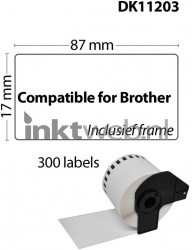 Brother DK-11203 wit CO-DK-11203