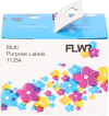 11354 permanente Multi functionele Labels wit