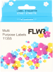 11355 Multi functionele Labels wit