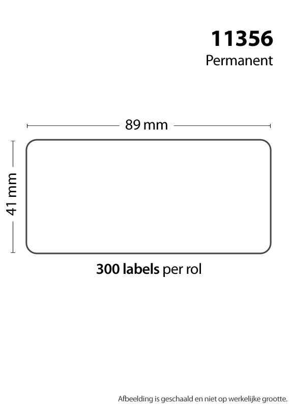 FLWR Dymo 11356 naambadge label wit