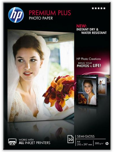 HP Premium Plus matglanzend wit