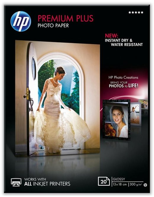 HP Premium Plus glanzend wit