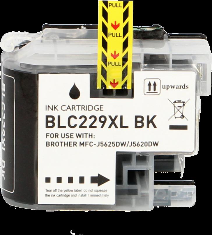 FLWR Brother LC-229BK zwart