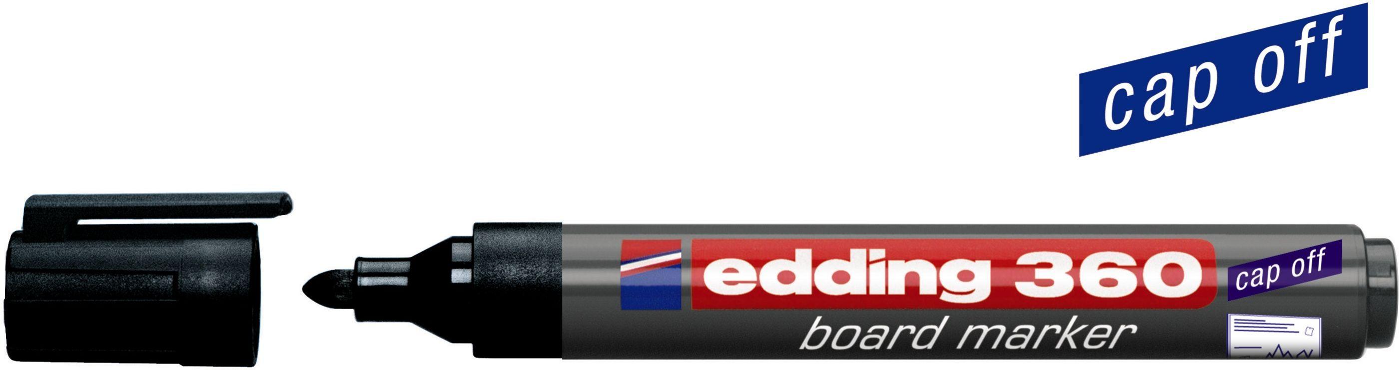 Edding 360 Whiteboard marker zwart