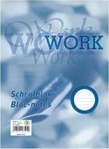 Work A4 blok gelinieerd wit