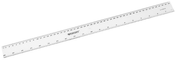 Corona Liniaal 50cm transparant