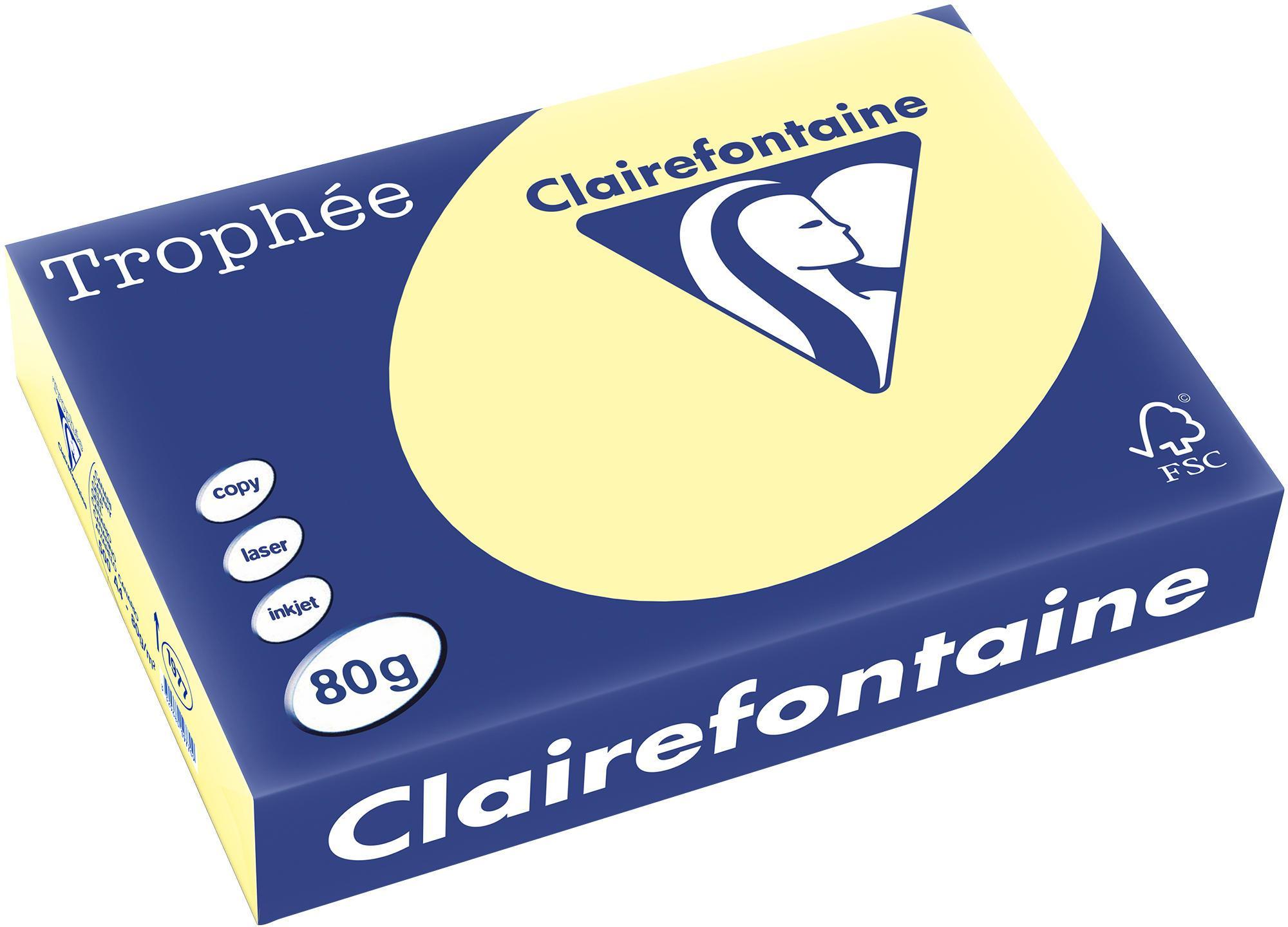 Clairefontaine A4 papier gekleurd Geel