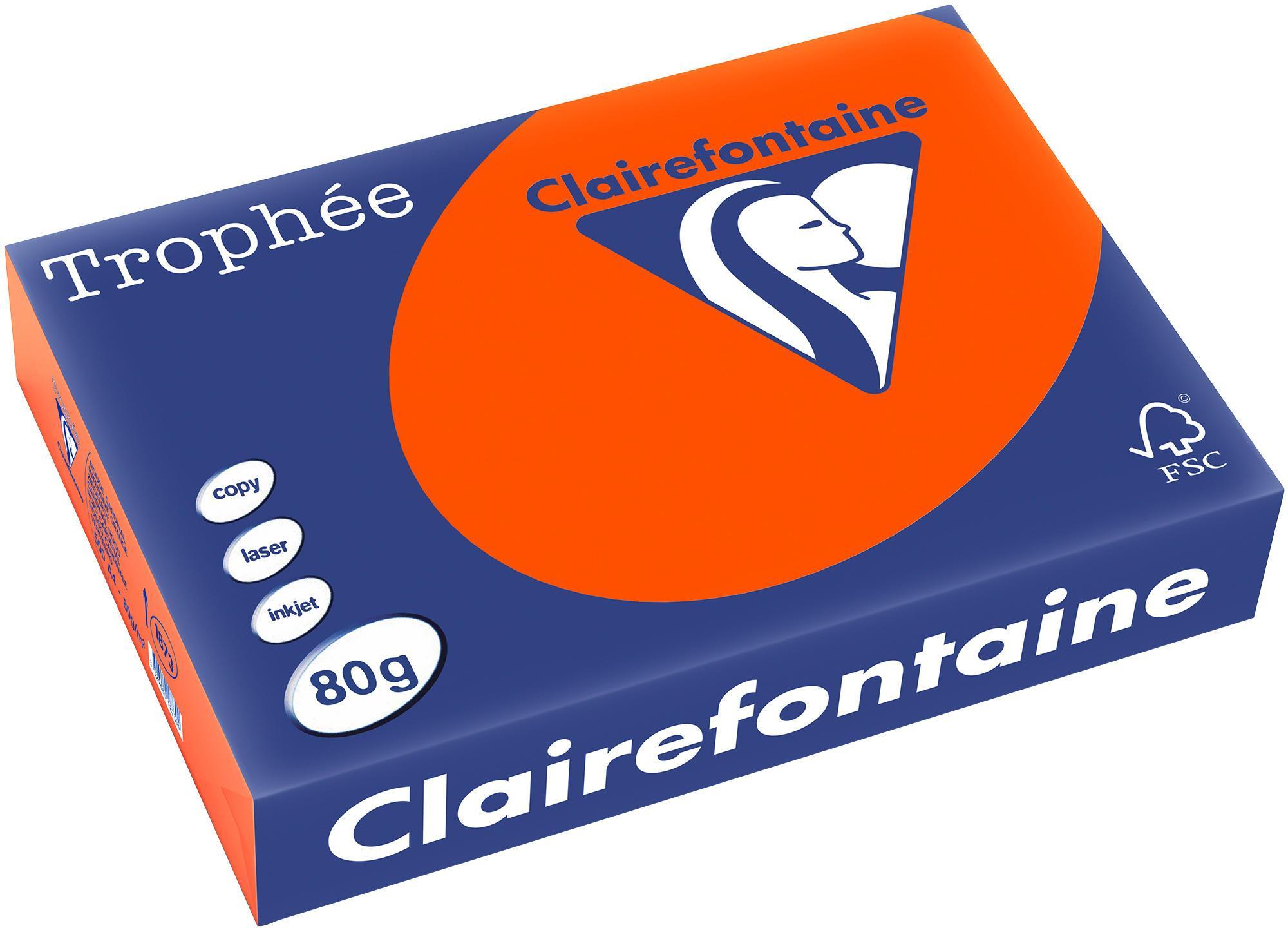 Clairefontaine A4 papier gekleurd Cardinaal Rood