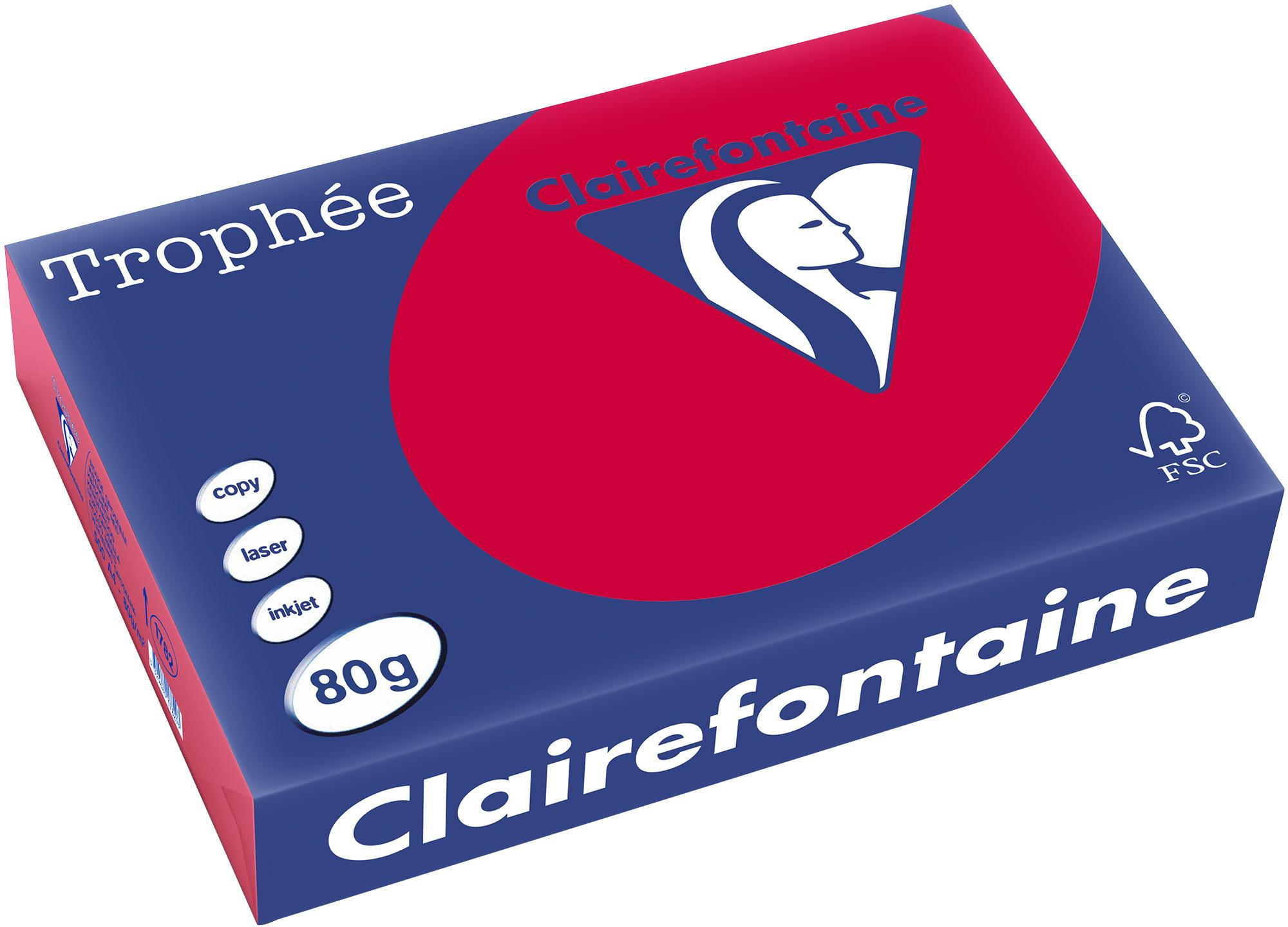 Clairefontaine A4 papier gekleurd Kersenrood