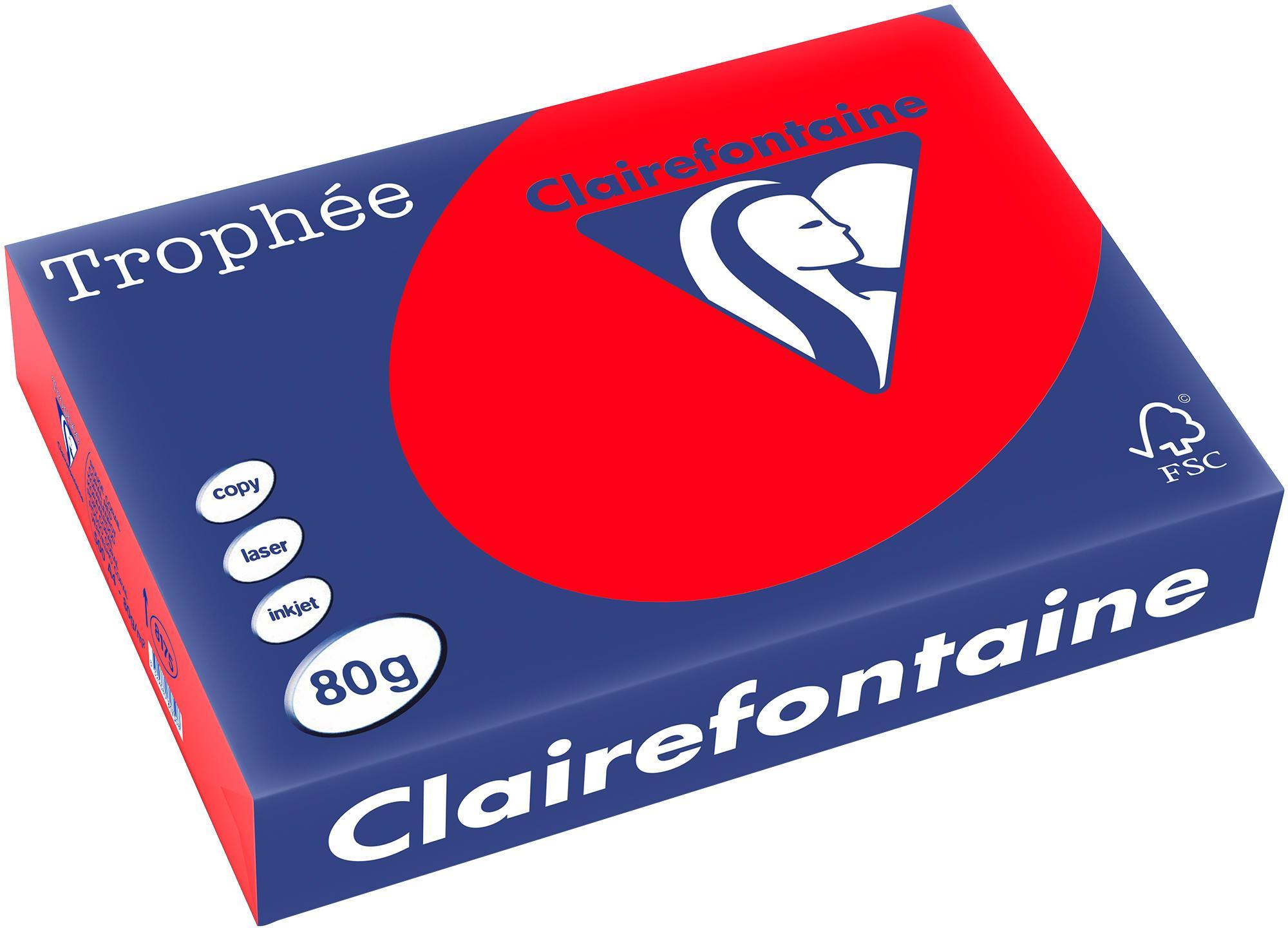 Clairefontaine A4 papier gekleurd Koraalrood