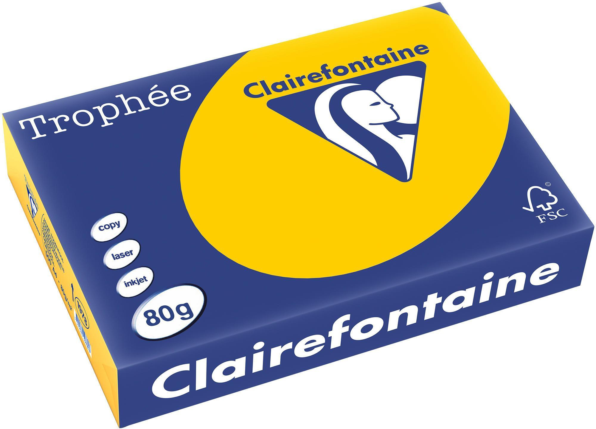 Clairefontaine A4 papier gekleurd Zonnebloemgeel