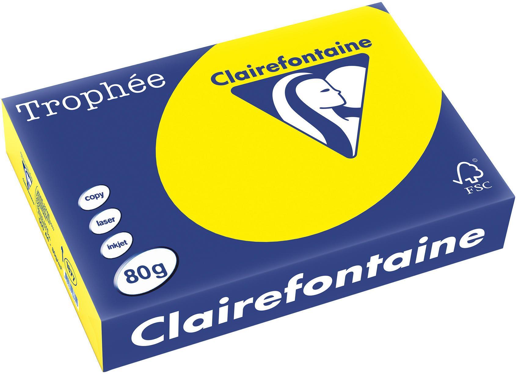 Clairefontaine A4 papier gekleurd Zonnegeel