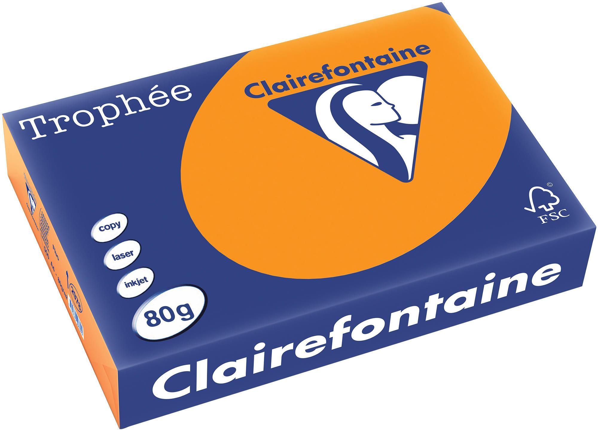 Clairefontaine A4 papier gekleurd FLUO Oranje