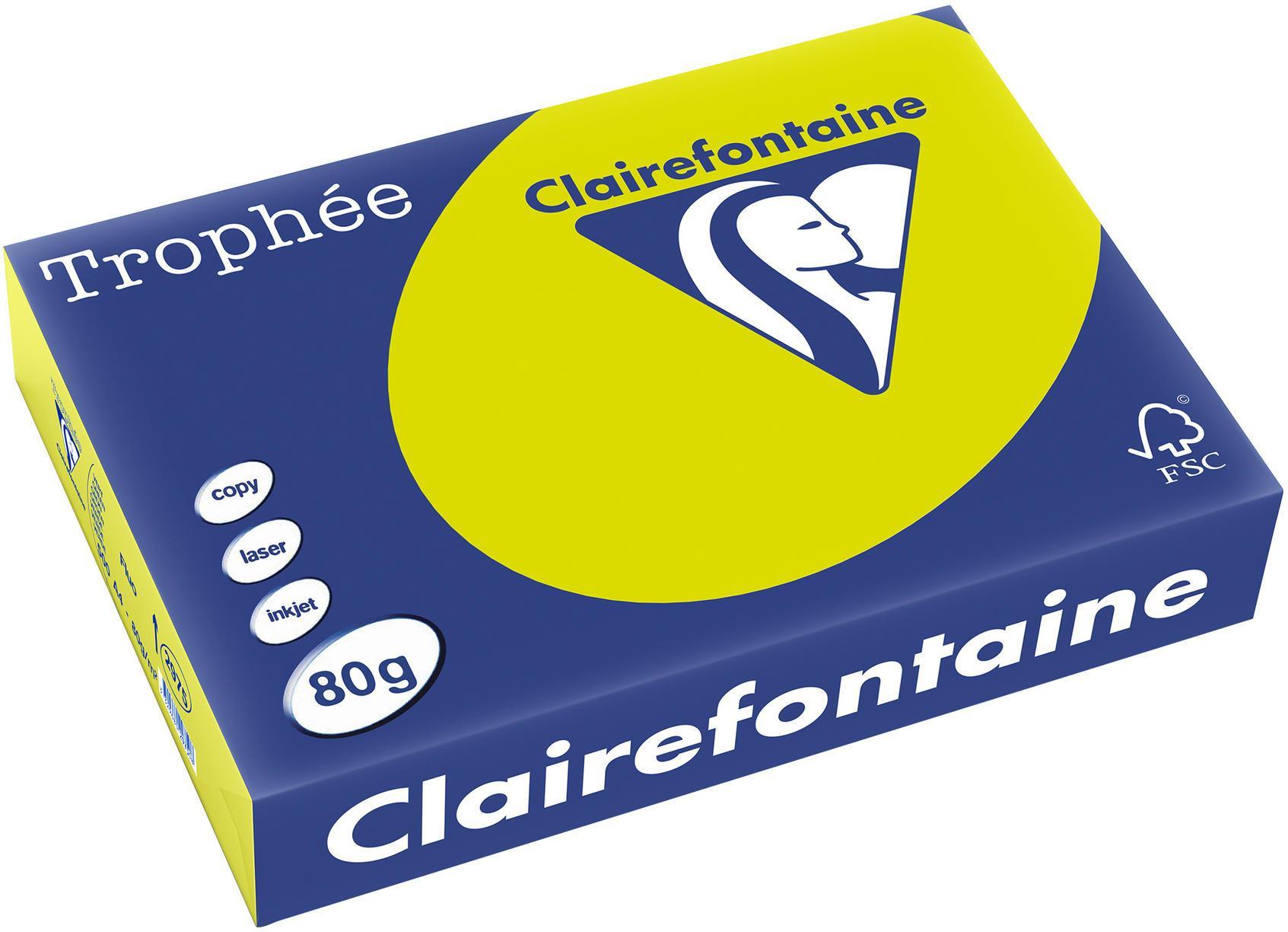Clairefontaine A4 papier gekleurd FLUO Groen