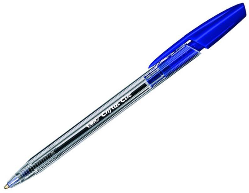 BIC Balpen Cristal Clic blauw