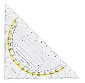 Corona Geodriehoek, transparant kunststof
