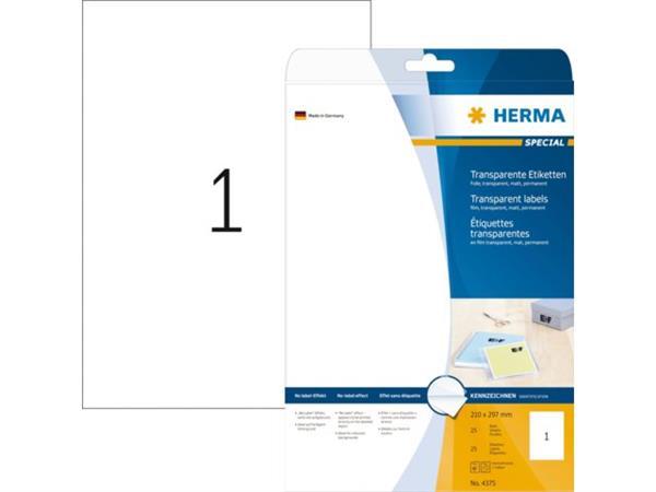 Herma 4375 folie-etiketten transparante mat