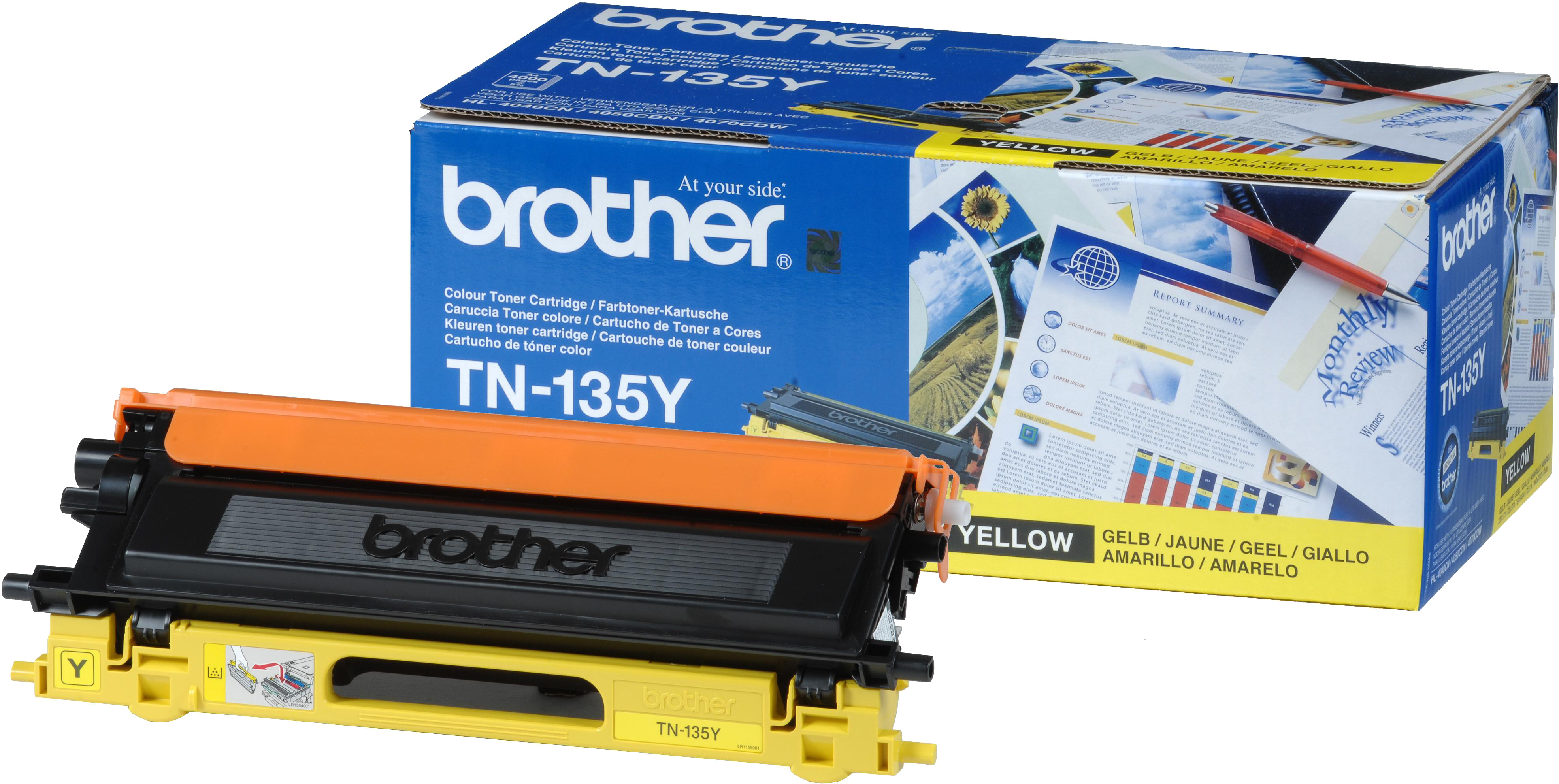 Brother TN-135Y geel