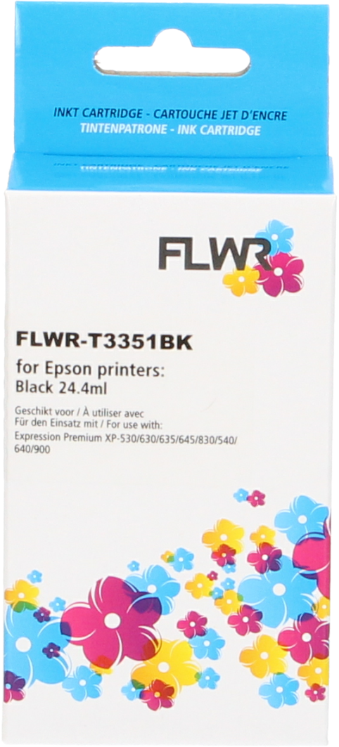 FLWR Epson 33XL (T3351) zwart