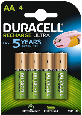 Duracell AA Rechargeable, 2500 mAh