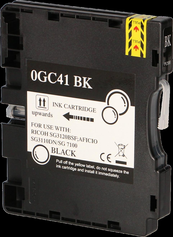 Huismerk Ricoh GC-41BK zwart