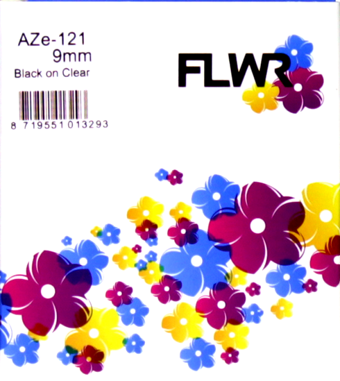 FLWR Brother TZe-121 zwart