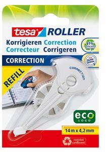 Tesa ECO correctieroller navulling wit