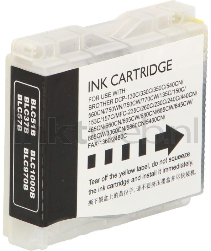 Huismerk Brother LC-970BK / LC-1000BK 2-pack zwart