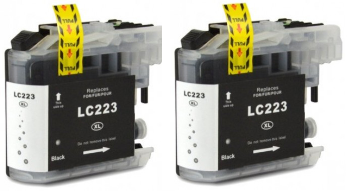 FLWR Brother LC-223BK 2-pack zwart