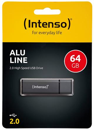 Intenso Alu Line USB Drive 64GB Antraciet