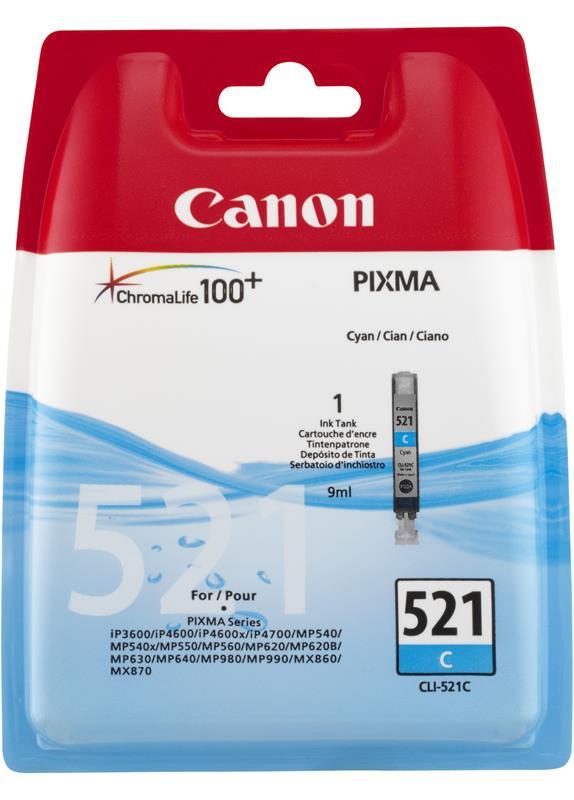 Canon CLI-521C cyaan