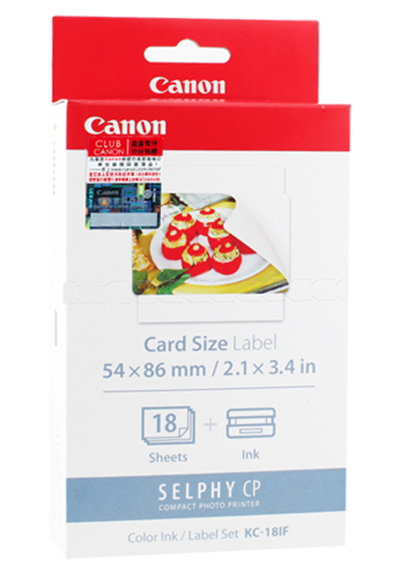 Canon KC-18IF cartridge en stickers kleur