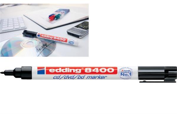 Edding 8400 cd/dvd/bd marker 10 pack zwart