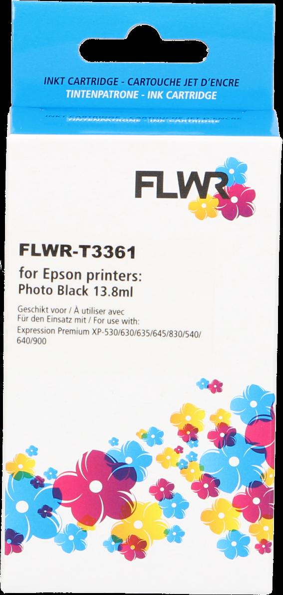 FLWR Epson 33XL (T3361) foto zwart