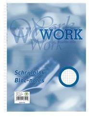 Work A4 blok dubbelspiraal geruit wit