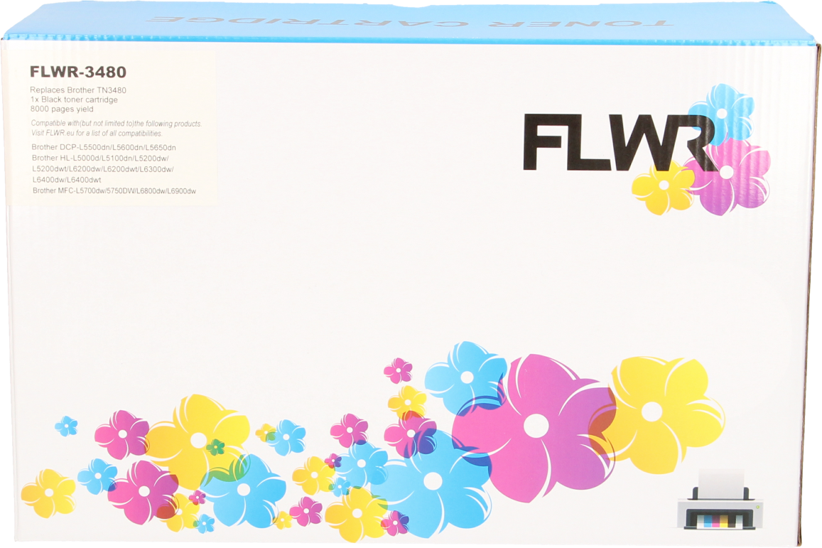 FLWR Brother TN-3480 zwart