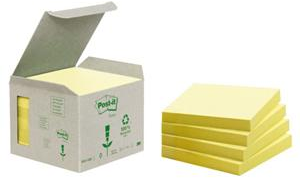 3M Post-it 76x76mm recycled 6-pack geel