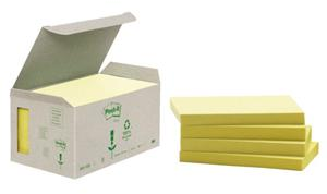 3M Post-it 76x127mm recycled 6-pack geel