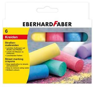 Eberhard Faber stoepkrijt 6 kleuren kleur
