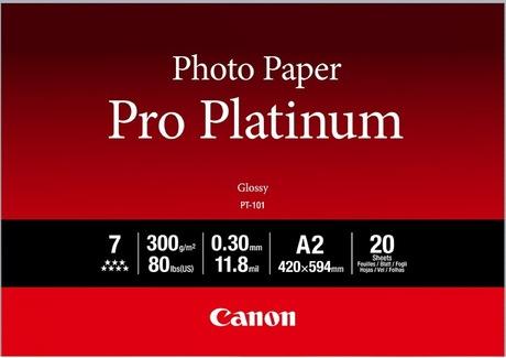 Canon PT-101 Professioneel A2 Fotopapier Platinum