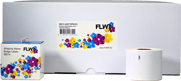 FLWR Dymo 13186 (99014 Multipack) wit