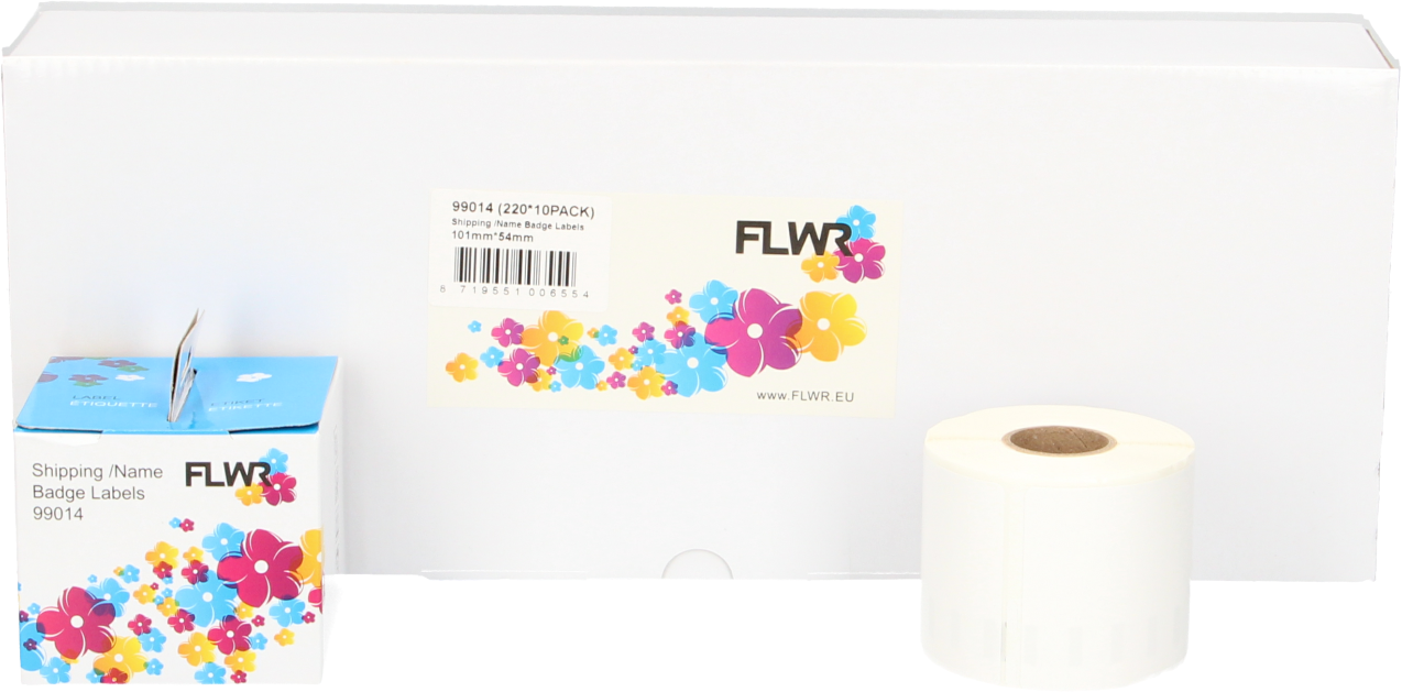FLWR Dymo 13186 (99014) 12-Pack wit