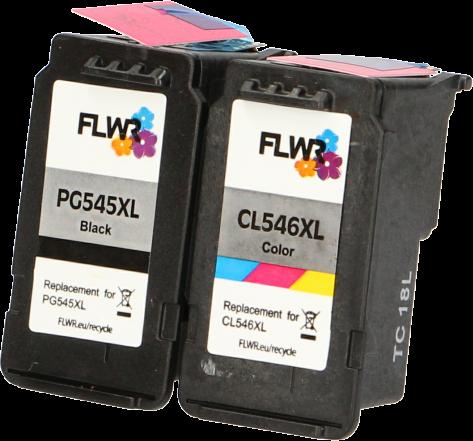 FLWR Canon PG-545XL / CL-546XL Multipack zwart en kleur