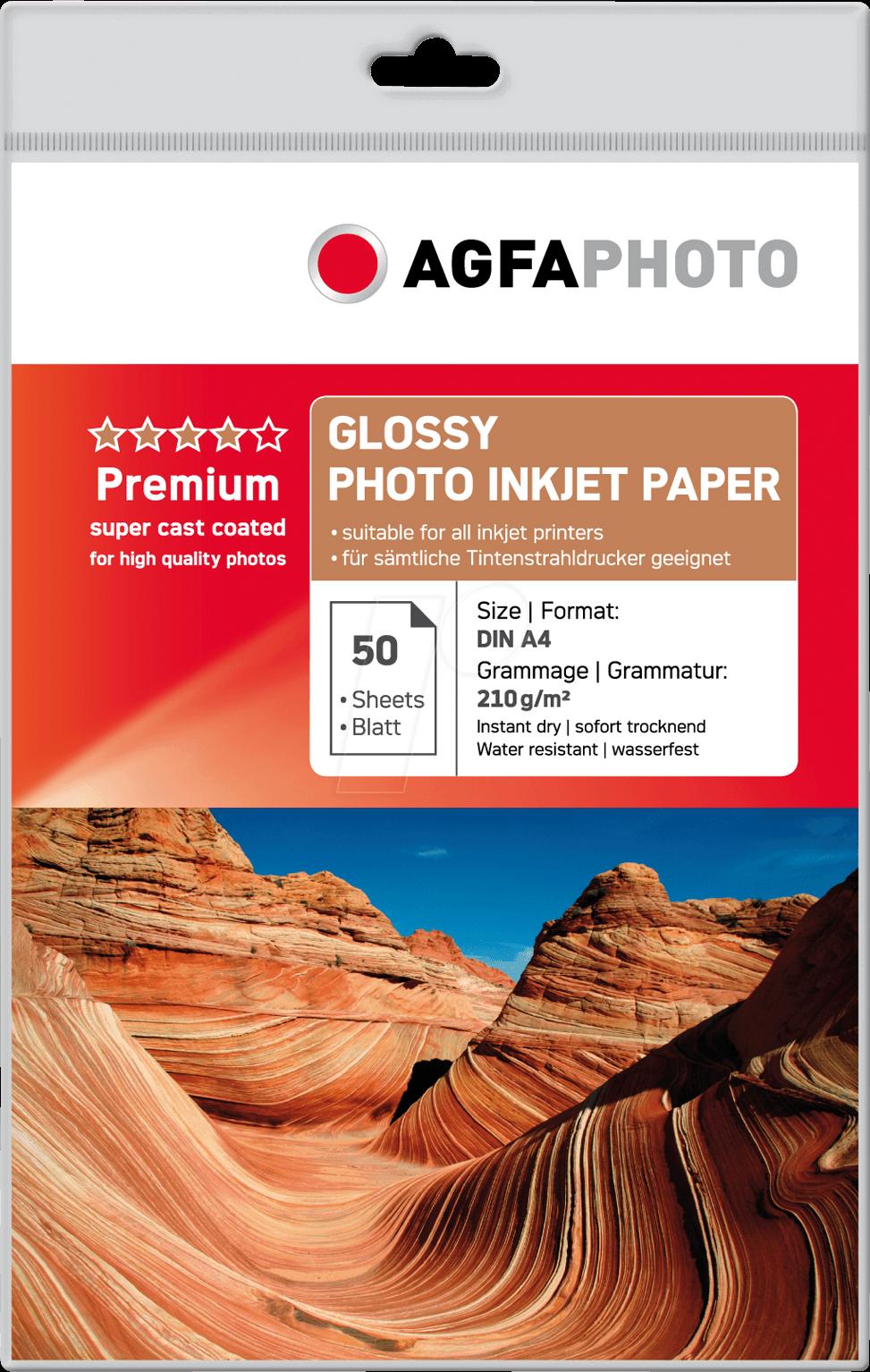 Agfa Fotopapier Glans A4 210 grams wit