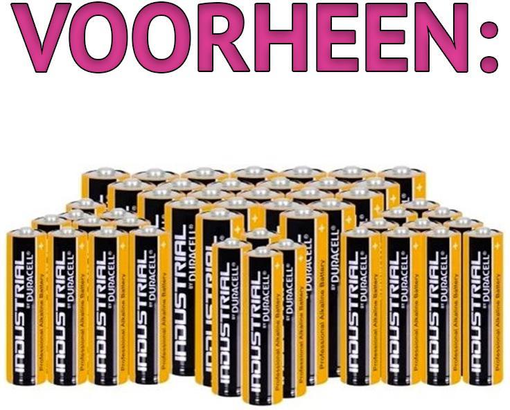 Duracell Industrial 72 Batterijen 48 AA + 24 AAA
