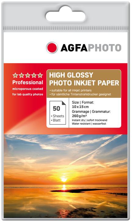 Agfa Fotopapier Glans 10x15 260 grams