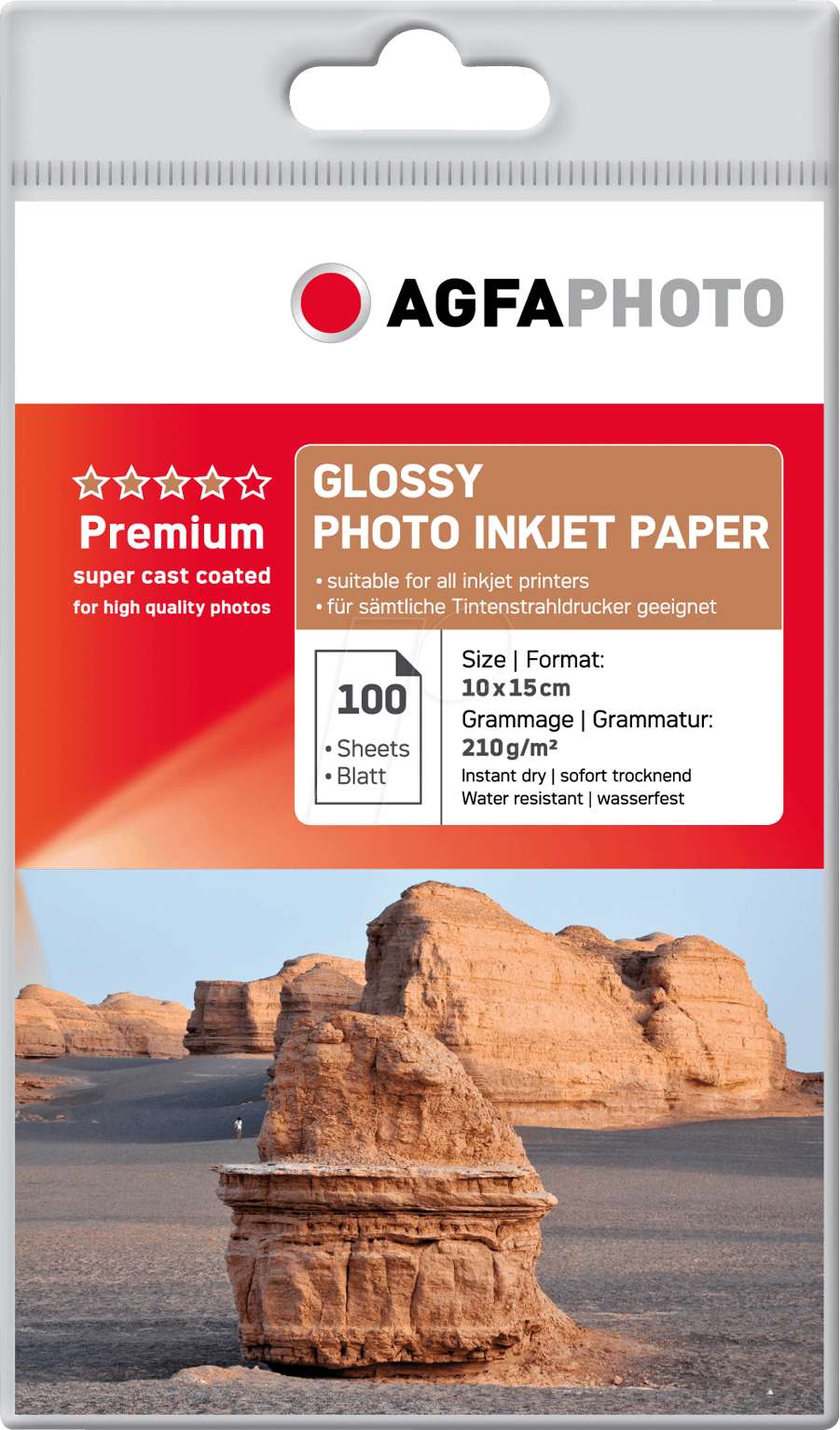 Agfa Fotopapier 210 grams SuperCast-Coated
