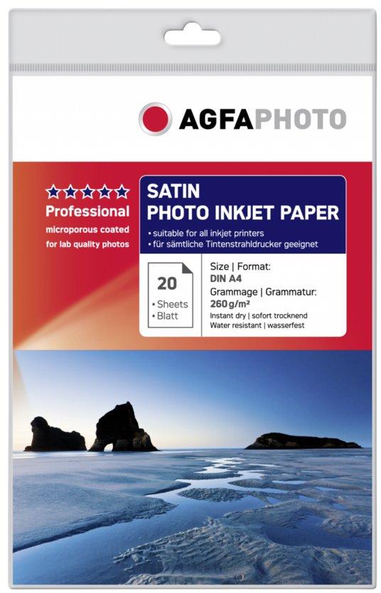 Agfa Fotopapier Satijn A4 260 grams