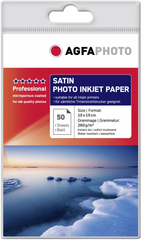 Agfa Fotopapier Satijn 260 grams 10x15