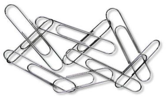 Kangaro Paperclips vernikkeld 30 mm Zilver